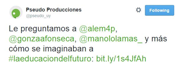 Tweet #LaEducaciónDelFuturo
